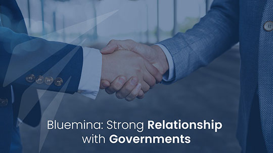 Bluemina: Strong Relationship with Governments