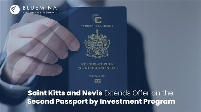 Saint Kitts and Nevis continues to Offer a special discount on the Second Passport by Investment Program
