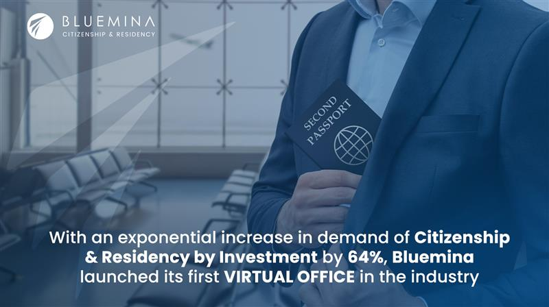 Bluemina: Exponential Increase in demand of Citizenship & Residency by Investment by 64%